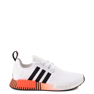 Main view of Mens adidas NMD R1 Athletic Shoe - White / Solar Red / Black Fade
