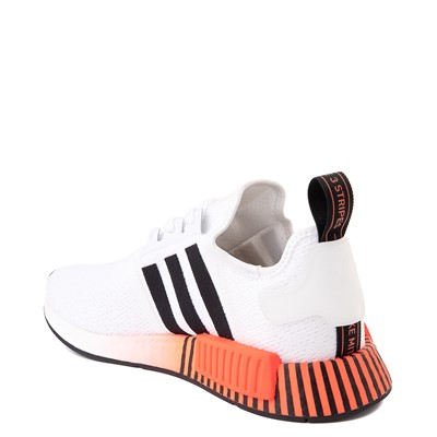 Alternate view of Mens adidas NMD R1 Athletic Shoe - White / Solar Red / Black Fade