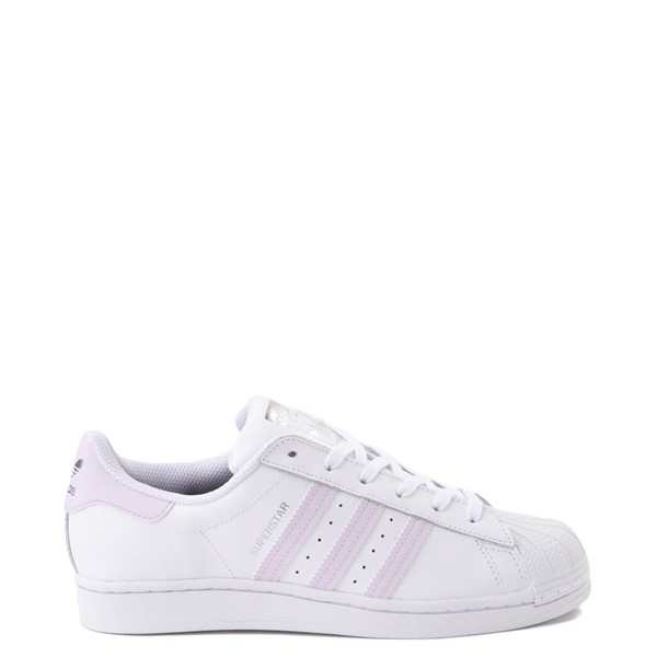 Main view of Womens adidas Superstar Athletic Shoe - White / Lavender