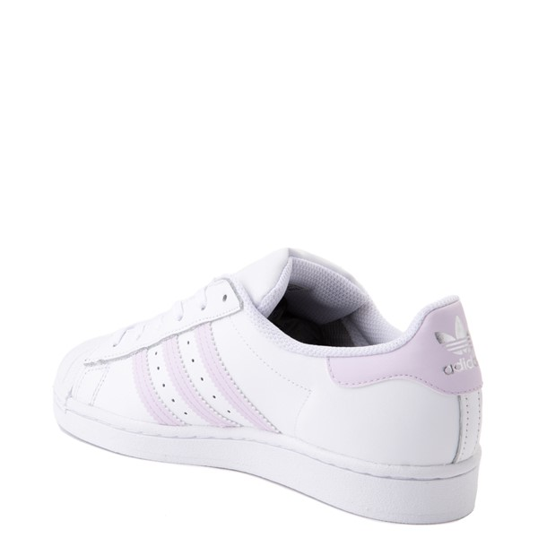 alternate view Womens adidas Superstar Athletic Shoe - White / LavenderALT1