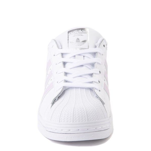 alternate view Womens adidas Superstar Athletic Shoe - White / LavenderALT4
