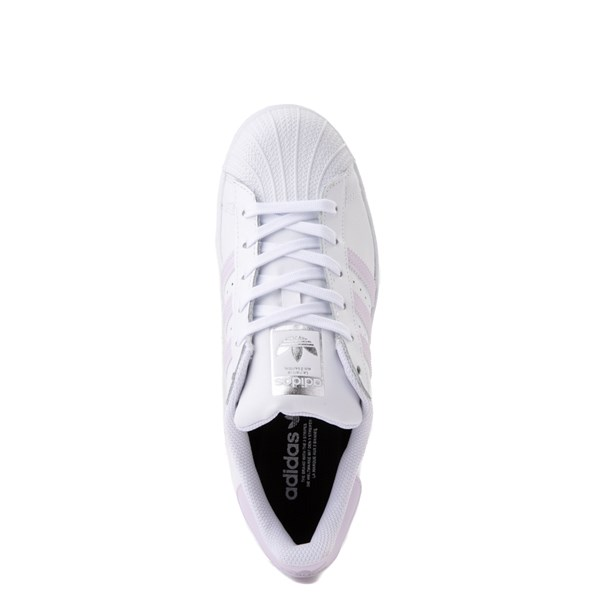 alternate view Womens adidas Superstar Athletic Shoe - White / LavenderALT4B