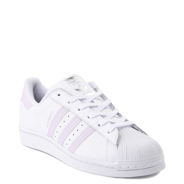 alternate view Womens adidas Superstar Athletic Shoe - White / LavenderALT5