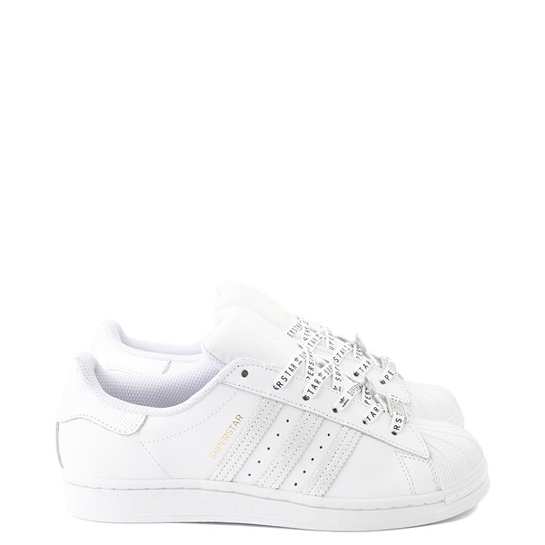 Main view of Womens adidas Superstar Festival Athletic Shoe - White / Purple