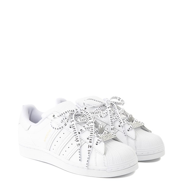 alternate view Womens adidas Superstar Festival Athletic Shoe - White / PurpleALT5