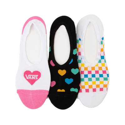 Main view of Womens Vans Rainbow Hearts Canoodle Liners 3 Pack - Multi