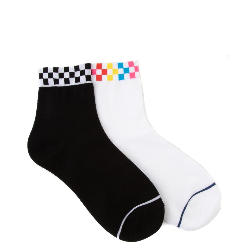 Womens Vans Peek-A-Check Crew Socks 2 Pack - Multi