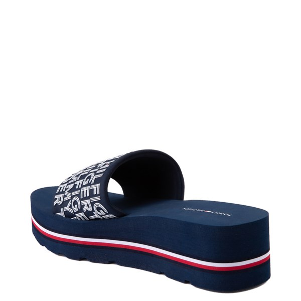 alternate view Womens Tommy Hilfiger Alana Platform Slide Sandal - NavyALT2