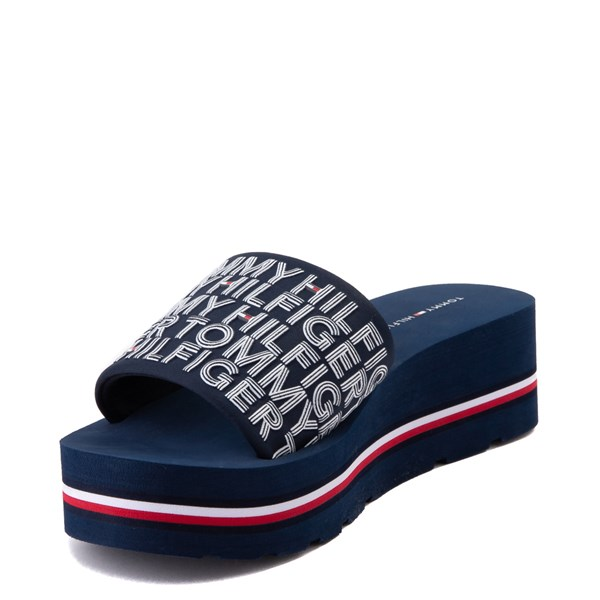 alternate view Womens Tommy Hilfiger Alana Platform Slide Sandal - NavyALT3