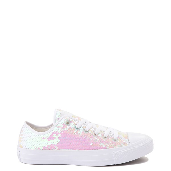 Converse Chuck Taylor All Star Lo Sequin Sneaker - White / Multicolor