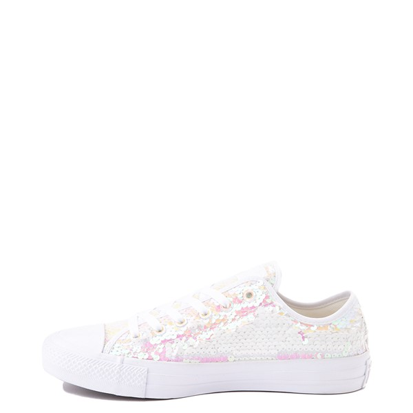 alternate view Converse Chuck Taylor All Star Lo Sequin Sneaker - White / MulticolorALT1