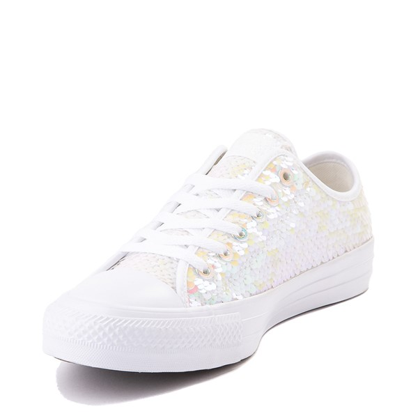 alternate view Converse Chuck Taylor All Star Lo Sequin Sneaker - White / MulticolorALT2