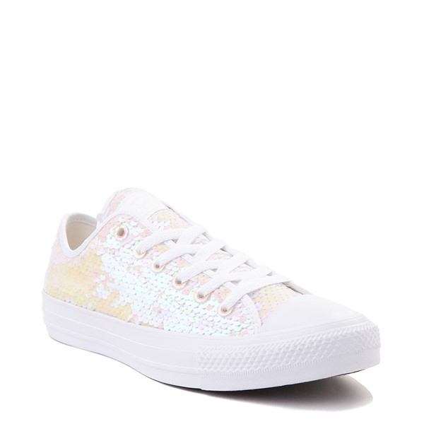 alternate view Converse Chuck Taylor All Star Lo Sequin Sneaker - White / MulticolorALT5