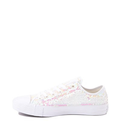Alternate view of Converse Chuck Taylor All Star Lo Sequin Sneaker - White / Multi
