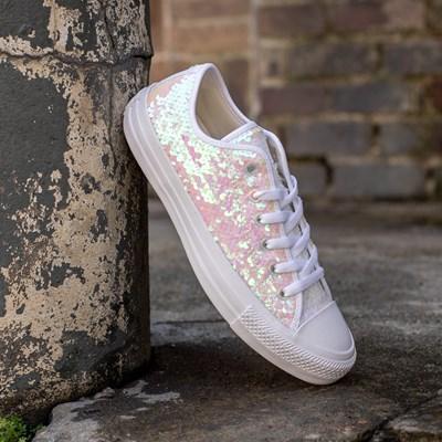 Star Lo Sequin Sneaker - White / Multi