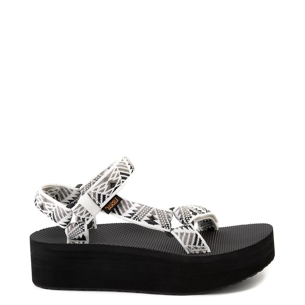Womens Teva Flatform Universal Sandal - White / Black