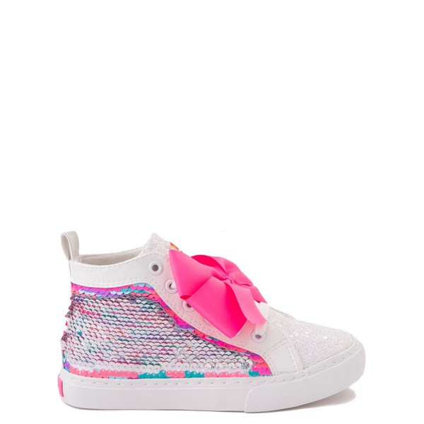 alternate view JoJo Siwa™ Unicorn Sequin Hi Sneaker - Little Kid / Big Kid - White / PinkALT1