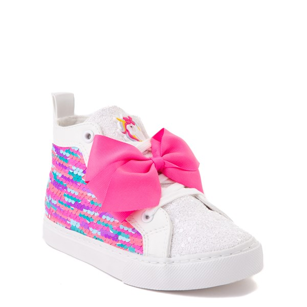 alternate view JoJo Siwa™ Unicorn Sequin Hi Sneaker - Little Kid / Big Kid - White / PinkALT1B