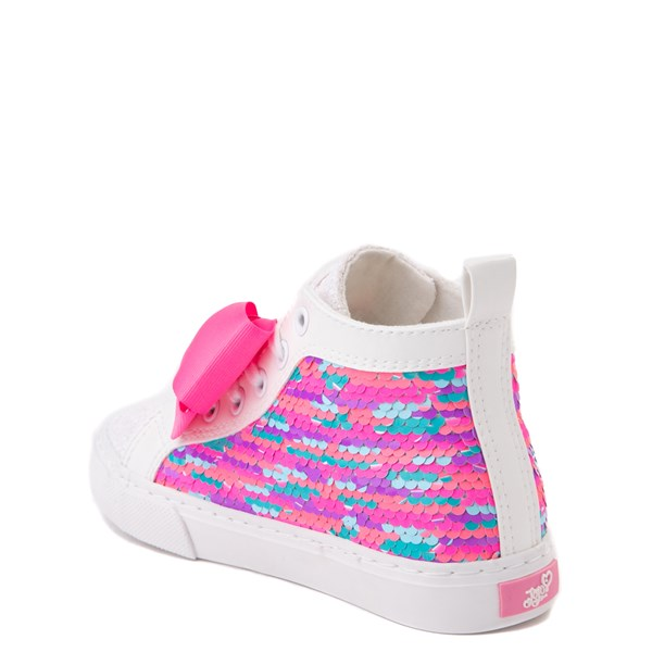 alternate view JoJo Siwa™ Unicorn Sequin Hi Sneaker - Little Kid / Big Kid - White / PinkALT2