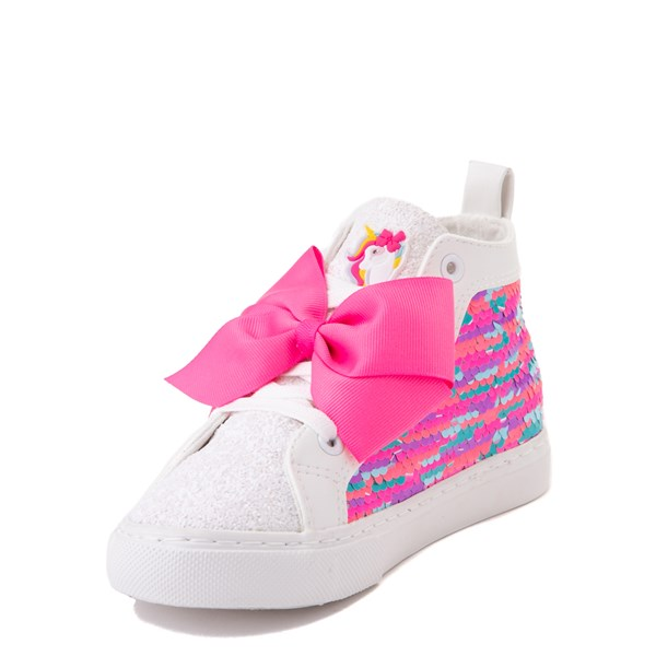 alternate view JoJo Siwa™ Unicorn Sequin Hi Sneaker - Little Kid / Big Kid - White / PinkALT3