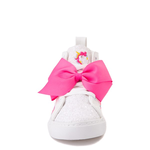 alternate view JoJo Siwa™ Unicorn Sequin Hi Sneaker - Little Kid / Big Kid - White / PinkALT4