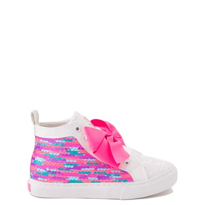 Main view of JoJo Siwa™ Unicorn Sequin Hi Sneaker - Little Kid / Big Kid - White / Pink