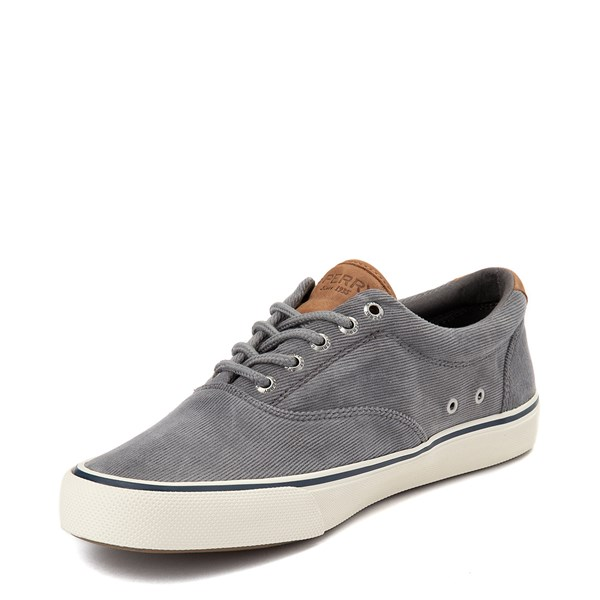 alternate view Mens Sperry Top-Sider Striper II Corduroy Casual Shoe - GrayALT3