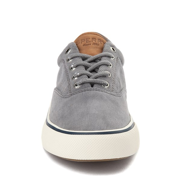 alternate view Mens Sperry Top-Sider Striper II Corduroy Casual Shoe - GrayALT4