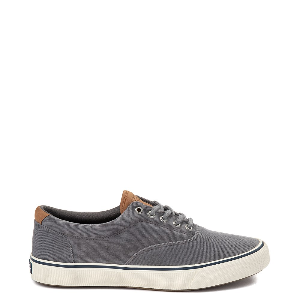 Mens Sperry Top-Sider Striper II Corduroy Casual Shoe - Gray
