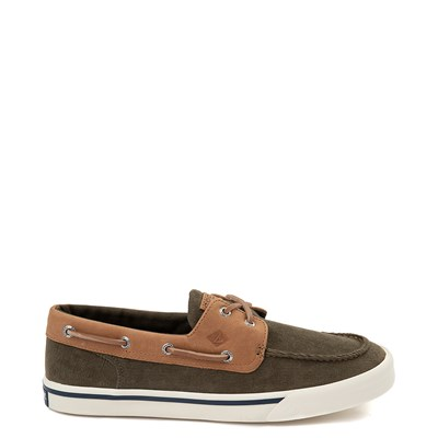 Main view of Mens Sperry Top-Sider Bahama II Corduroy Casual Shoe - Olive