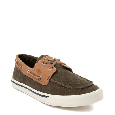 Alternate view of Mens Sperry Top-Sider Bahama II Corduroy Casual Shoe - Olive