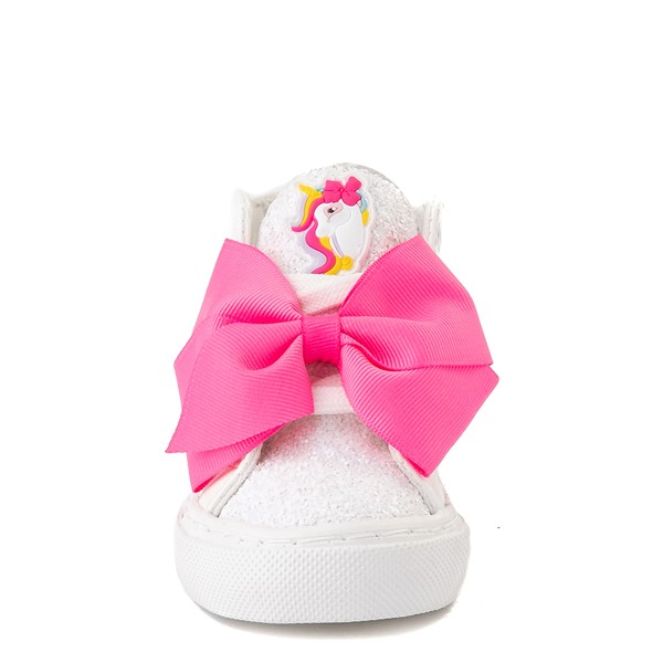 alternate view JoJo Siwa™ Unicorn Sequin Hi Sneaker - Toddler - White / PinkALT4