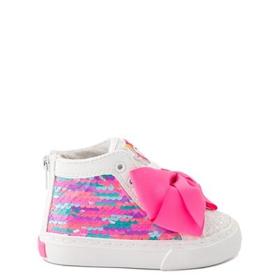 Main view of JoJo Siwa™ Unicorn Sequin Hi Sneaker - Toddler - White / Pink