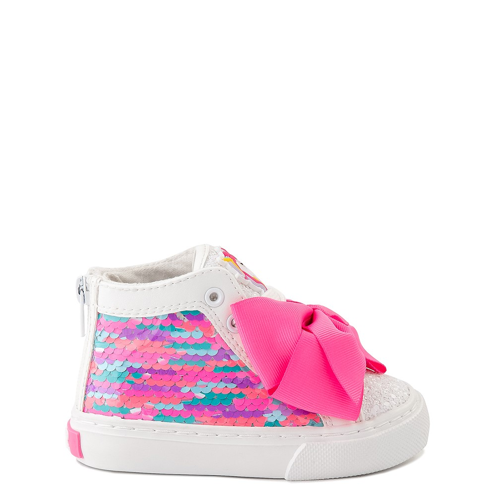 JoJo Siwa™ Unicorn Sequin Hi Sneaker - Toddler - White / Pink