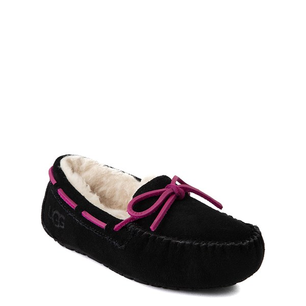 alternate view UGG® Dakota Slipper - Little Kid / Big Kid - BlackALT1