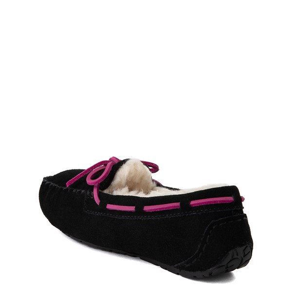 alternate view UGG® Dakota Slipper - Little Kid / Big Kid - BlackALT2