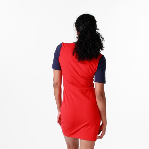 alternate view Womens Fila Roslyn Fitted Dress - Red / Navy / WhiteALT1