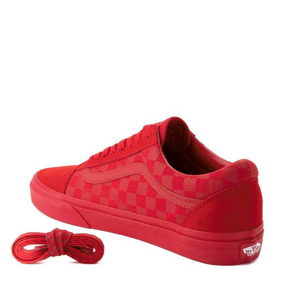 alternate view Vans Old Skool Tonal Checkerboard Skate Shoe - Racing RedALT1