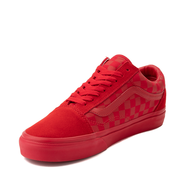 alternate view Vans Old Skool Tonal Checkerboard Skate Shoe - Racing RedALT2