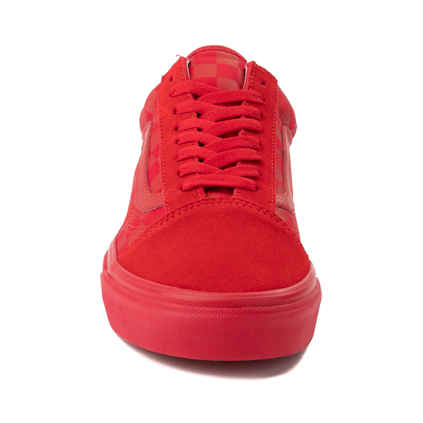 alternate view Vans Old Skool Tonal Checkerboard Skate Shoe - Racing RedALT4