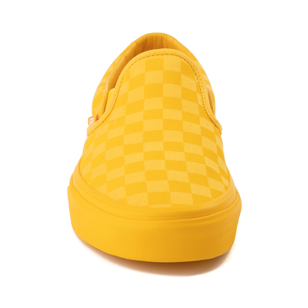 alternate view Vans Slip On Tonal Checkerboard Skate Shoe - Spectra YellowALT4