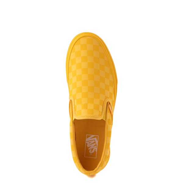 alternate view Vans Slip On Tonal Checkerboard Skate Shoe - Spectra YellowALT4B