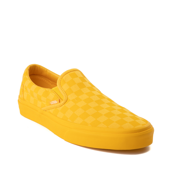 alternate view Vans Slip On Tonal Checkerboard Skate Shoe - Spectra YellowALT5
