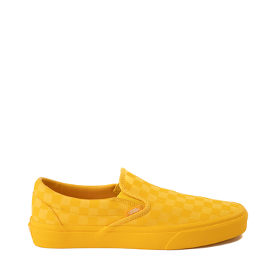 Main view of Vans Slip On Checkerboard Skate Shoe - Yellow Monochrome
