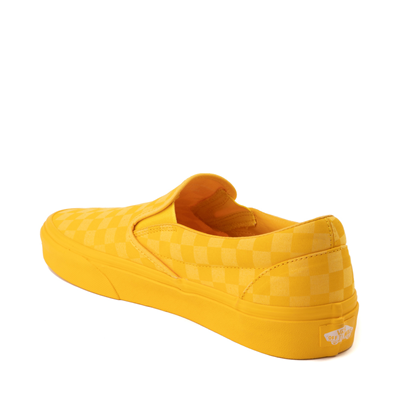 Alternate view of Vans Slip On Checkerboard Skate Shoe - Yellow Monochrome