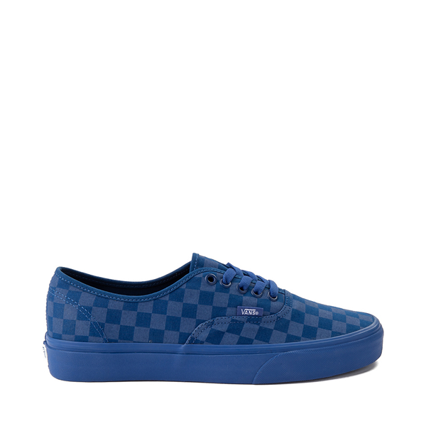 Default view of Vans Authentic Checkerboard Skate Shoe - Blue Monochrome