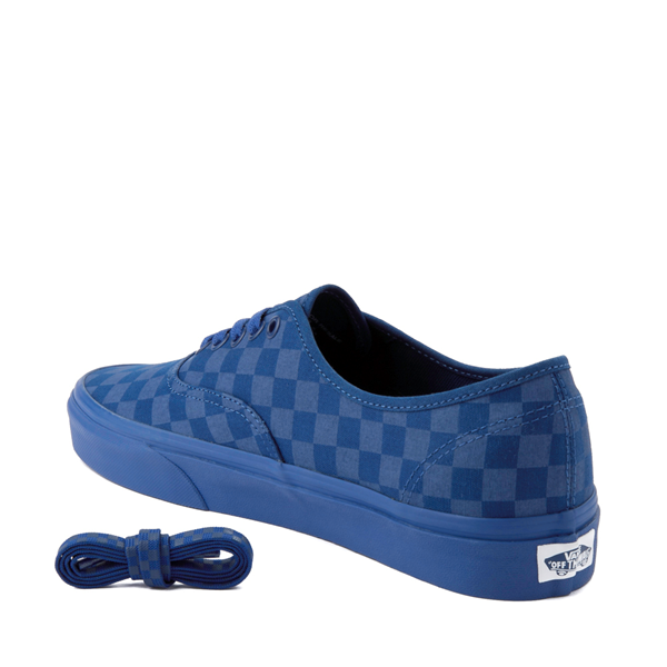 alternate view Vans Authentic Tonal Checkerboard Skate Shoe - True BlueALT1