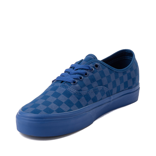 alternate view Vans Authentic Tonal Checkerboard Skate Shoe - True BlueALT2