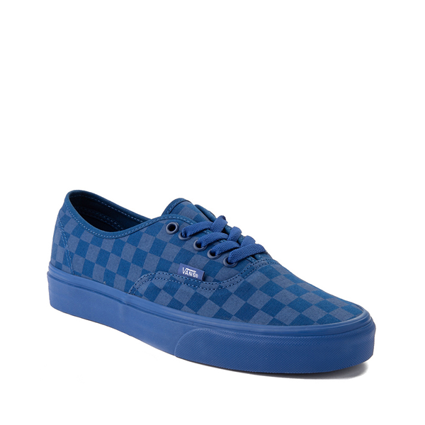 alternate view Vans Authentic Tonal Checkerboard Skate Shoe - True BlueALT5