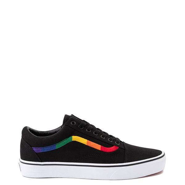 Main view of Vans Old Skool Skate Shoe - Black / Rainbow